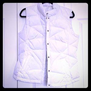 NWOT White Puffer Vest